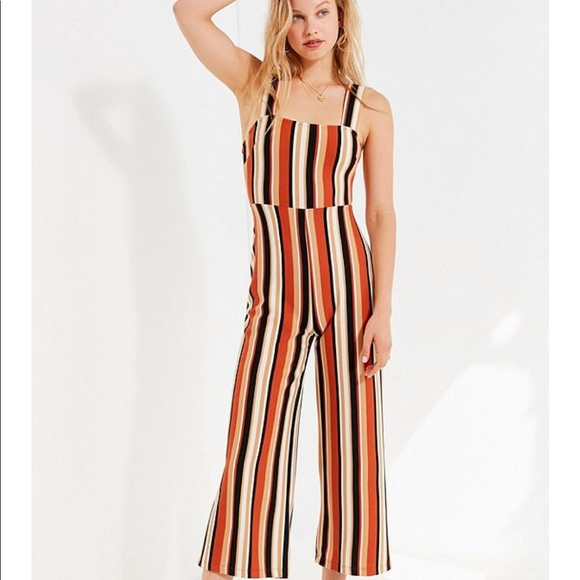 Urban Outfitters Pants Uo Delany Straightneck Striped Jumpsuit